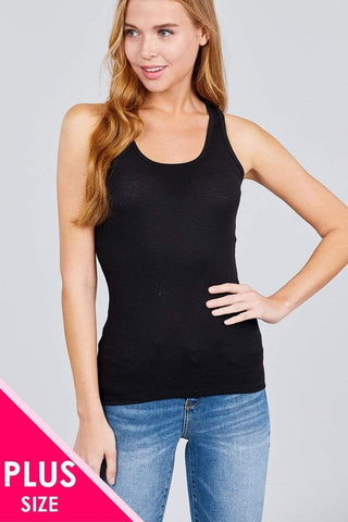 Image of My Bargain Boutique Black / XL Racer Back Tank Top