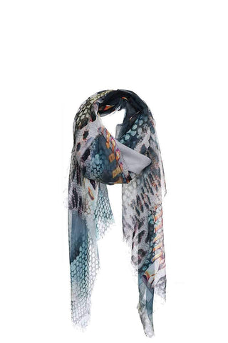 My Bargain Boutique Blue Chic Soft Animal Pattern Print Scarf