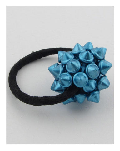 My Bargain Boutique Blue Hair Elastic w/Spike Ball