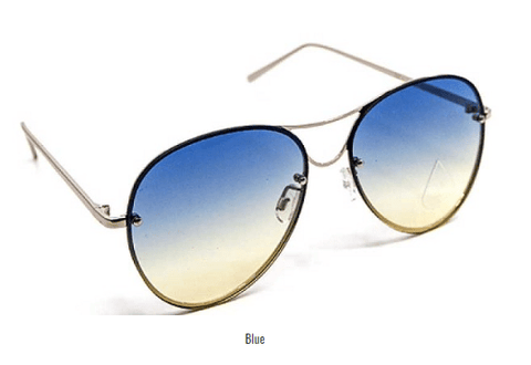 Image of My Bargain Boutique Blue Modern Princess Sunglasses