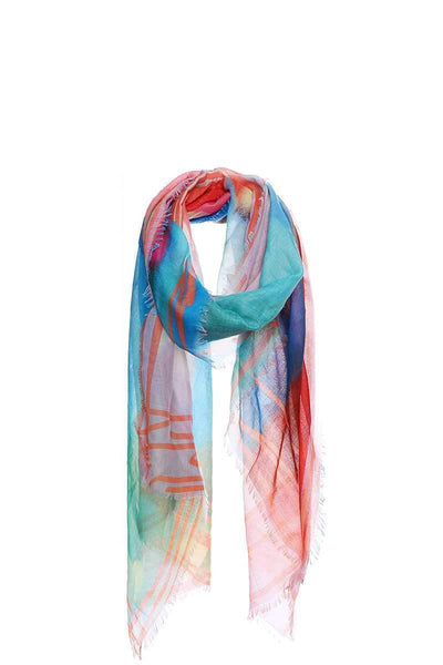 Soft Stylish Rainbow Color Scarf - My Bargain Boutique - Affordable Women's Clothing