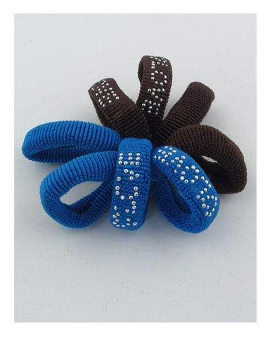 My Bargain Boutique Brown\Blue Colored Hair Elastics