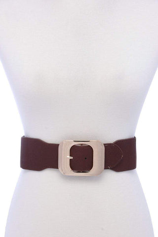 Image of My Bargain Boutique Brown Fashion Stretch Chic Belt