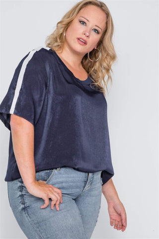 Image of My Bargain Boutique Color Block Short Sleeve Top