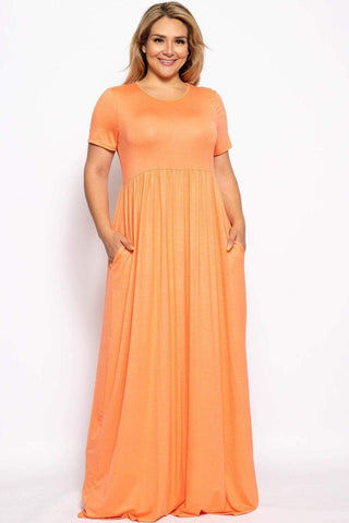 Image of My Bargain Boutique Coral / XL Vibrant Maxi Dress