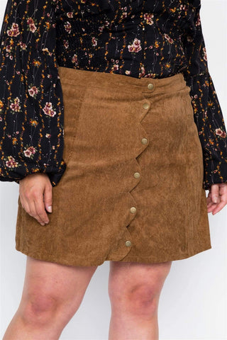 Image of My Bargain Boutique Corduroy Mini Skirt