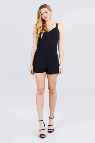 Image of My Bargain Boutique Cross Strap Cami Princess Line Romper
