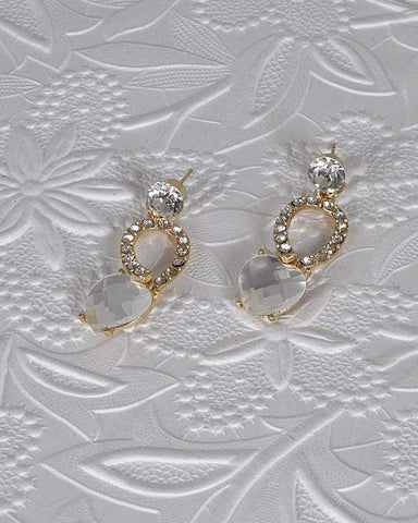 My Bargain Boutique Crystal and Rhinestone Embellished Drop Earrings