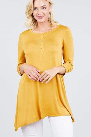 Image of My Bargain Boutique Dark Mustard / S Placket Top