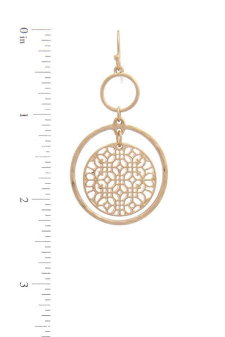 My Bargain Boutique Double Circle Drop Earring