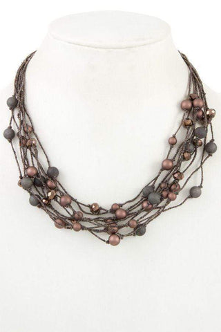 My Bargain Boutique Faceted bead multi row necklace