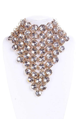 Image of My Bargain Boutique Fancy Stone Choker Necklace And Earring Set