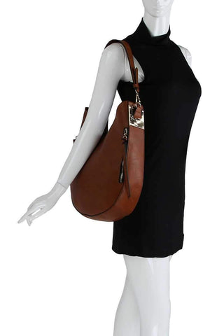 My Bargain Boutique Fashion Chic Trendy Hobo Bag With Long Strap