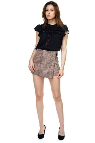 Image of My Bargain Boutique Faux Suede Mini Shorts