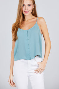 My Bargain Boutique Fizzy Mint / S Cami Woven Top