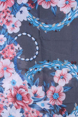 Image of My Bargain Boutique Floral Pattern Tassel Oblong Scarf