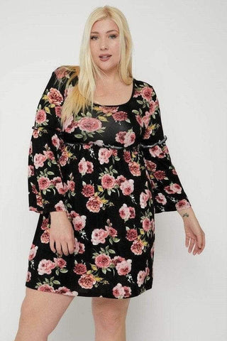 Women's Floral Print Dress - My Bargain Boutique