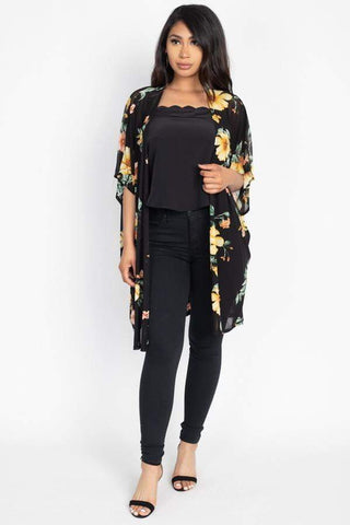 Image of My Bargain Boutique Flower Print Mesh Jacket