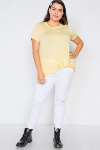Image of My Bargain Boutique Front-Twist Short Sleeve Top