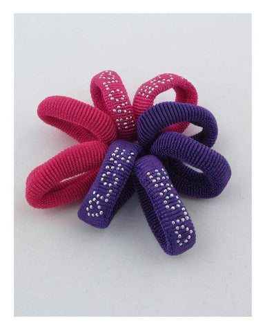 My Bargain Boutique Fuchsia\Purple Colored Hair Elastics
