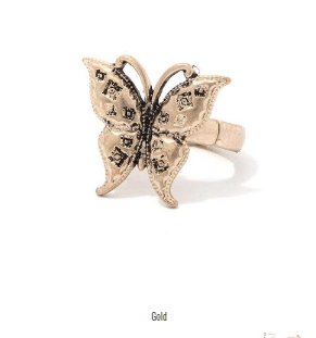 Image of My Bargain Boutique Gold Butterfly Stretch Ring
