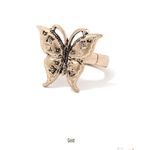 My Bargain Boutique Gold Butterfly Stretch Ring