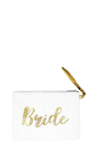 Image of My Bargain Boutique Gold Fashion Bride Ecco Clutch Bag