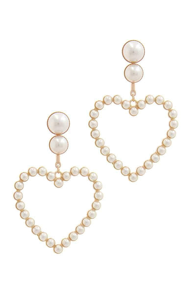 Heart Shape Post Drop Earring - My Bargain Boutique - Affordable Women's Clothing