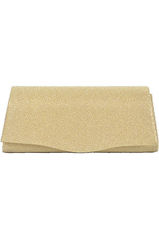 My Bargain Boutique Gold Rectangular Shiny Evening Clutch