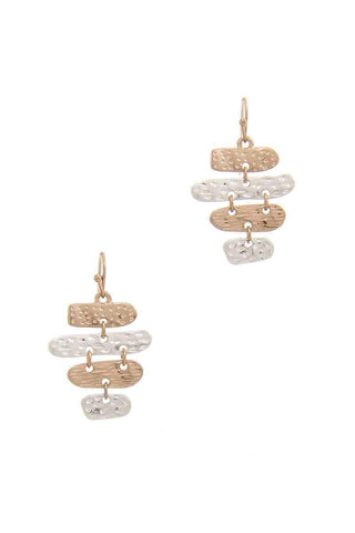 My Bargain Boutique Gold/Silver Oval Dangle Drop Earring