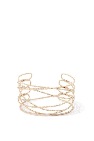 Textured Metal Cuff Bracelet - My Bargain Boutique - Affordable Women's Clothing