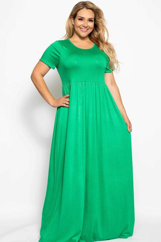 Image of My Bargain Boutique Green / XL Vibrant Maxi Dress