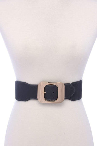 Image of My Bargain Boutique Grey Fashion Stretch Chic Belt