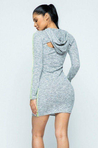 Image of My Bargain Boutique Hacci Hoodie And Tank Top Dress Set