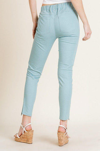 My Bargain Boutique High Waist Skinny Moto Pant