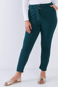 My Bargain Boutique Hunter Green / 1XL Ankle Length Pants