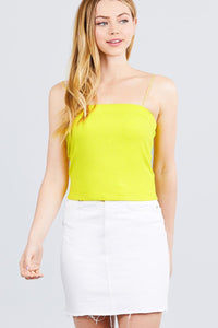 My Bargain Boutique Lime Yellow / S Elastic Strap Tube Top