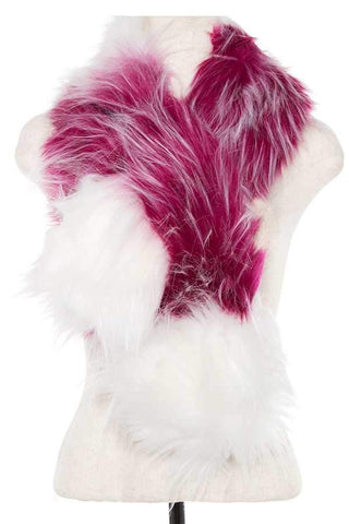 My Bargain Boutique Magenta Faux Fur Two Tone Neck Wrap