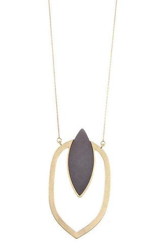 Image of My Bargain Boutique Marquise cut pendant long necklace