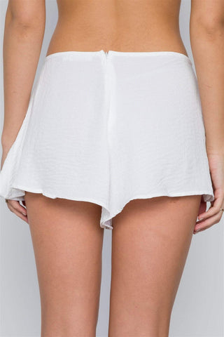 Image of My Bargain Boutique Mid-rise Light Crinkled Self Tie Shorts