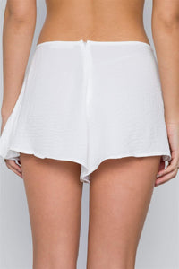My Bargain Boutique Mid-rise Light Crinkled Self Tie Shorts