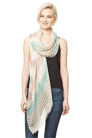 Image of My Bargain Boutique Mint Stripe Pattern Long Scarf
