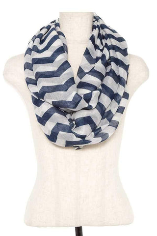 My Bargain Boutique Mint Striped Infinity Scarf