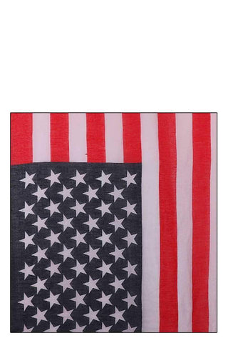Image of My Bargain Boutique Multi Chiffon American Flag Long Scarf