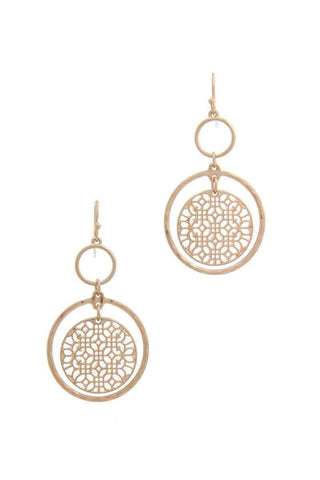 My Bargain Boutique Multi Double Circle Drop Earring