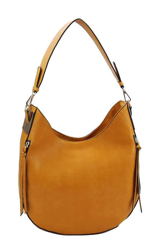 My Bargain Boutique Mustard Fashion Chic Trendy Hobo Bag With Long Strap