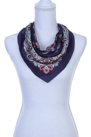 My Bargain Boutique Navy Paisley Pattern Bandanna Scarf