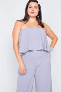 My Bargain Boutique Off-the-shoulder Wide Leg Jumpsuit