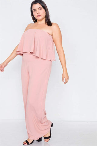 Image of My Bargain Boutique Off-the-shoulder Wide Leg Jumpsuit