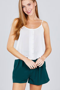 My Bargain Boutique Off White / S Cami Woven Top